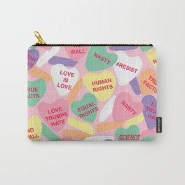 Resistance Conversation Hearts Carry-All Pouch