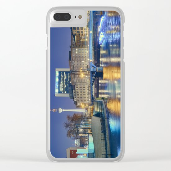Berlin. Spree at night Clear iPhone Case