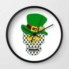 Irish Skull Wall Clock