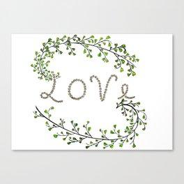 Love Vegetals Canvas Print
