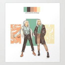 SKAM / DRUCK crossover Noora/Mia Art Print