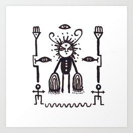 Grumpy Totem Art Print