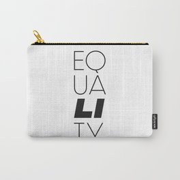 Equality Black & White (LGBTTQQIAAP) Carry-All Pouch