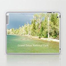 Grand Teton National Park. Landscape photography of lake and trees. Laptop & iPad Skin