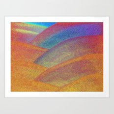 Gold and Rainbow Art Print