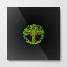Yggdrasil Viking tree of life Edda Nordic Design Metal Print