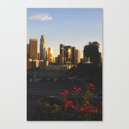 Los Angeles Contrast Canvas Print