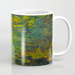 Václav Radimský (1867-1946) Water Lilies Impressionist Landscape Oil Painting Coffee Mug