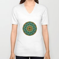 kaleidoscope V-neck T-shirts featuring Kaleidoscope by Klara Acel