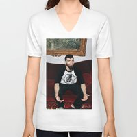 kevin russ V-neck T-shirts featuring Kevin by moriahaslan