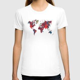 world map art 8 T-shirt
