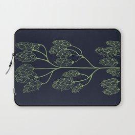 Leaf-like Sumac on Navy Laptop Sleeve
