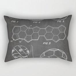 Soccer Ball Patent - Football Art - Black Chalkboard Rectangular Pillow