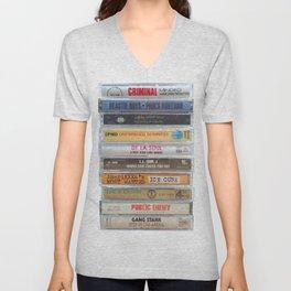 Hip Hip Cassettes Unisex V-Neck