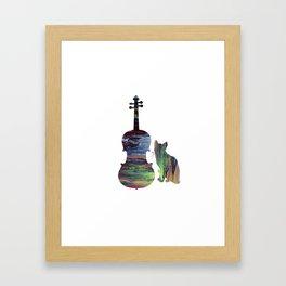 Viola Cat Art Framed Art Print