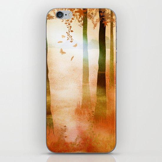 sunrise in autumn iPhone & iPod Skin