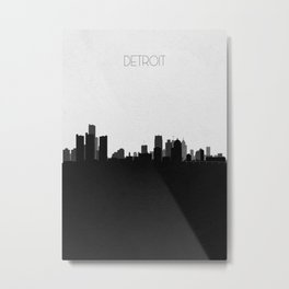 City Skylines: Detroit Metal Print