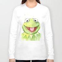 kermit Long Sleeve T-shirts featuring Kermit Portrait by Olechka