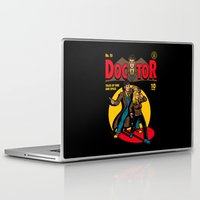 comic Laptop & iPad Skins featuring Doctor Comic by harebrained