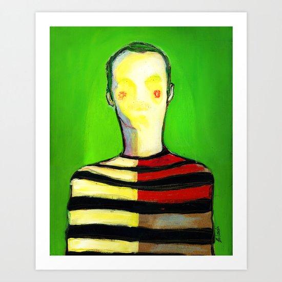 HIDDEN FACE Art Print