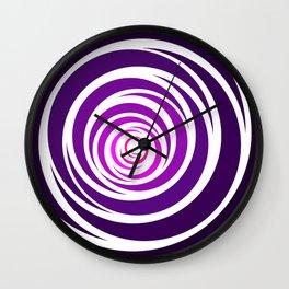 Spinnin Round Purple Wall Clock