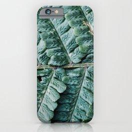 Modern minimal jungle iPhone Case