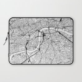 London White Map Laptop Sleeve