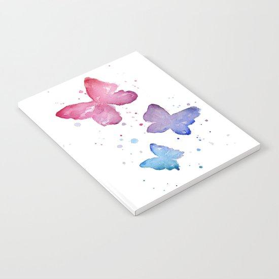 Butterflies Watercolor Abstract Splatters Notebook
