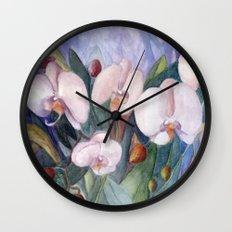 Orchid Fantasy Wall Clock
