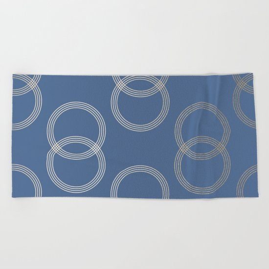 Simply Infinity Link in White Gold Sands on Aegean Blue Beach Towel