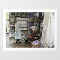 shopping Art Prints featuring Shopping by Rosemary  Aubut