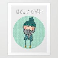 Grow a Beard Art Print