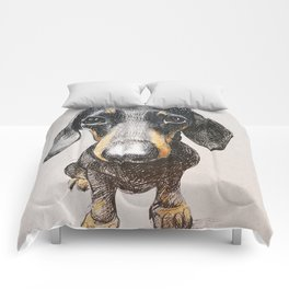 Dog dachshund Comforters