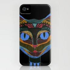 Black CAT iPhone (4, 4s) Slim Case