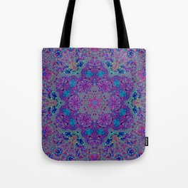 Oil Spill to Flower Tote Bag