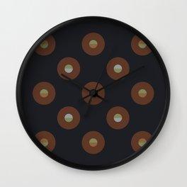black coffee    moon drops Wall Clock