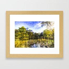 The Bulrush Pond Art Framed Art Print