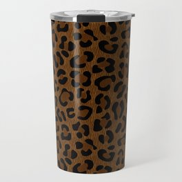 Leopard Print - Dark Travel Mug