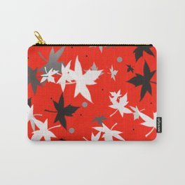 Forever Autumn Leaves red 5 Carry-All Pouch