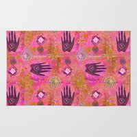 hands Area & Throw Rugs featuring Hands by LebensART