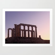 Temple of Poseidon II Art Print