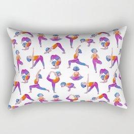 Yoga Girl Rectangular Pillow