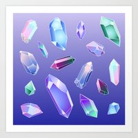 Scattered Crystals Art Print
