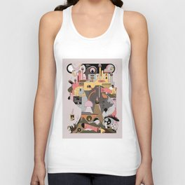 Camping at Home Unisex Tank Top