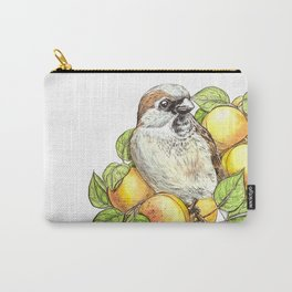 Sparrow on an apricot branch Carry-All Pouch