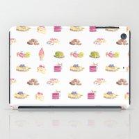 dessert iPad Cases featuring Dessert Pattern by Stephanie Priscilla