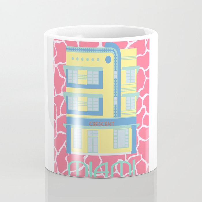 Miami Landmarks - Crescent Coffee Mug