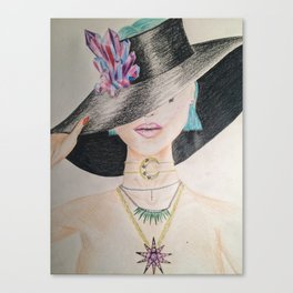 SLAY WITCH | Orginal drawing by Natalie Burnett Art Canvas Print