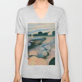 Edvard Munch - Melancholy - Digital Remastered Edition Unisex V-Neck