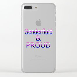 Genderfluid and Proud (white bg) Clear iPhone Case